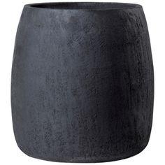 �19-in H x 19-in W x 19-in D Dark Gray Clay Outdoor Pot