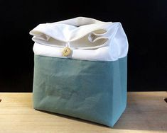 Green lunch bag for women Zero waste food bag Cotton lunch