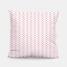 Red Lines  Pillow