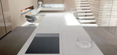 Linea (Glam) Kitchen by Comprex 8 Kitchen Base Cabinets, Kitchen Countertops, Kitchen Island, Modern Interior Design, Interior Architecture, Modern Interiors, Residential Architecture, Interior Ideas, Corian Dupont