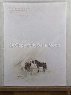 Original Sara Moon Artwork For Sale Moon Painting, Painting & Drawing, Moon Art, Oil On Canvas, Original Artwork, Art Gallery, Horses, The Originals, Drawings