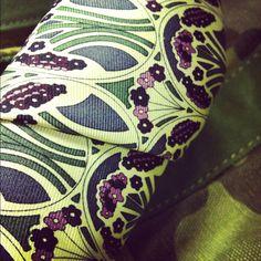 Mauverina C Tana Lawn / Liberty London tie on camouflage tote.