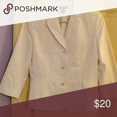 Ann Taylor jacket New but without tags. 100% cotton & lined suit jacket size 8 petite Ann Taylor Jackets & Coats Blazers