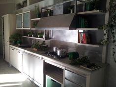 Cucina in frassino con isola INDUSTRIAL CHIC by L\'Ottocento ...