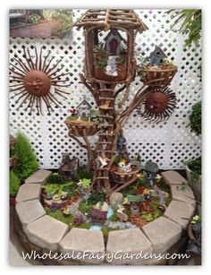 I have a great love for fairy gardens. This one is amazing. #fortheloveoffairygardens