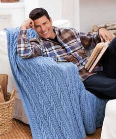 Cables and Bobbles Throw