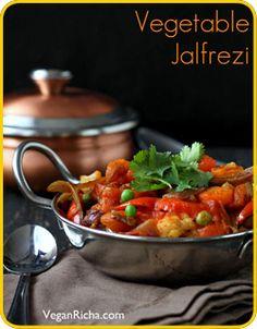 Vegetable Jalfrezi:   Smoky Tangy Veggie Stir-fry Meatout Mondays