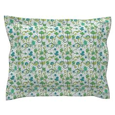 Sebright Pillow Sham with Flanged Detail featuring Ethnic indian ornament by argunika | Roostery Home Decor