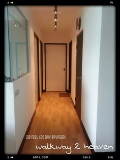 Love the lights and the black door frames!