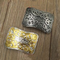 High Quality Golden Antique Retro Solid Brass Belt Buckle