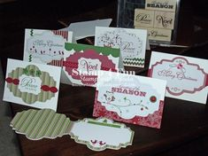 Snow Festival Tags Stampin up