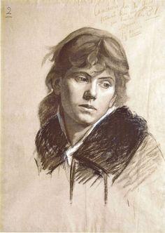 Portrait of a woman. -- Marie Bashkirtseff