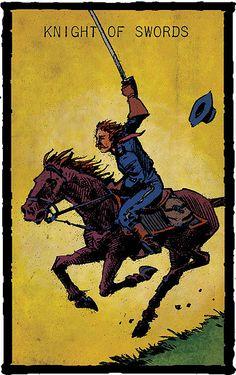 knight of swords - Prairie Tarot