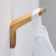 """Give your bathroom a sleek update with our Mid-Century Bathroom Hardware, inspired by retro designs of the '50s and '60s. This collection also pairs well with our Seamless Medicine Cabinets and Metal Frame Pivot Mirrors (sold separately). KEY DETAILS Metal in an Antique Brass finish. Sold individually or as set of 4 or 5. Two sets of 4 available: 18"""" Towel Bar or 24"""" Towel Bar, Towel Ring, Toilet Paper Holder and Single Towel Hook. Two sets of 5 available: 18"""" Towel Bar or 24"""" Towel Bar… Diy Bathroom, Bathroom Hardware, Bathroom Fixtures, Bathroom Ideas, Bathroom Organization, Brass Bathroom, Master Bathrooms, Washroom, Bathroom Inspiration"""