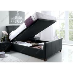 Cheapest Price On Star Collection Allendale Superking Ottoman Leather Bed. Have Your Star Collection Allendale Superking Ottoman Leather Bed delivered by bedstardirects experienced delivery team. Ottoman Storage Bed, Ottoman Bed, Upholstered Ottoman, Black Leather Ottoman, Bed Frames For Sale, Bed Frame With Storage, Stylish Beds, Black Bedding, Bed Sizes