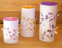 Cut Paper Flower Lanterns