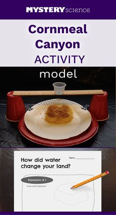 Erosion Activity - free hands-on science activity for or grade elementary kids. Part of a complete unit on Water: Earth's Surface Processes. Meets Next Generation Science Standards (NGSS). 7th Grade Science, Kindergarten Science, Middle School Science, Elementary Science, Science Classroom, Teaching Science, Science Resources, Science Experiments Kids, Earth Science Activities