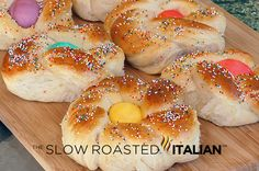 Italian Easter Bread...festive with colored egg center!