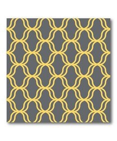 Take a look at this Gray & Gold Lattice Canvas Wall Art by COURTSIDE MARKET on #zulily today!