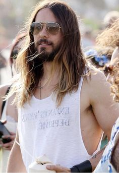 Jared Leto. He looks like a 70's rock star. I'm liking it! :)