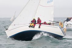 The Contessa 28 yacht 'Tringa' competing in the 2011 JP Morgan Asset Management Round the Island Race.