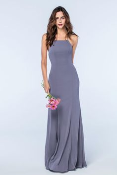 Grey bridesmaid dresses are having a moment; from shimmering slinky gowns, to floaty lace numbers, everyone looks effortlessly cool in a shade of grey Grey Bridesmaids, Beautiful Bridesmaid Dresses, Wedding Bridesmaid Dresses, Bridal Dresses, Prom Dresses, Bridesmaid Ideas, Wedding Attire, Elegant Dresses, Wedding Gowns