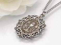 Antique First Communion Silver Medal French by ClosetGothic