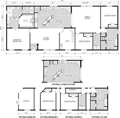 Manufactured And Modular Home Plans, Floor Plans, Photos W/ 4th Bedroom