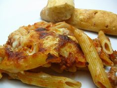 Baked penne and sausage....a great potluck dish!
