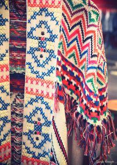 amazing knit with simulated cross stitch pattern