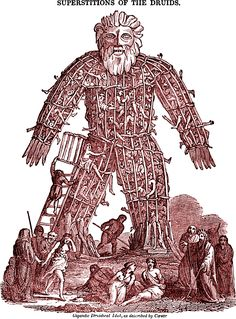 In honor of the great film The Wicker Man, here's a druidical idol from The Saturday Magazine, 1832.