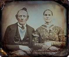 Middle Aged Couple, Scovill 1/6th-Plate Daguerreotype, Circa 1853 by lisby1, via Flickr