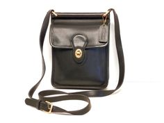 Coach Equestrian Courier Cross Body Bag // Small by pearlsvintage, $72.00