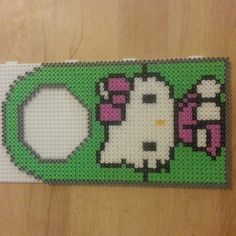 Hello Kitty door hanger perler beads by faznasir21