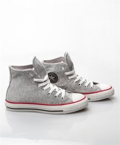 Converse high tops that look like sweat pants material.
