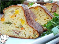Πεντανοστιμο,μυρωδατο πανευκολο αλμυρο κεικ χωρις την χρηση μιξερ,με χρωματιστες πιπεριες,τυρια και λουκανικο χωριατικο καλης ποιοτητας. Banana Bread, Mashed Potatoes, Ethnic Recipes, Desserts, Food, Whipped Potatoes, Tailgate Desserts, Deserts, Smash Potatoes
