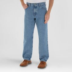 Wrangler Men's 5-Star Relaxed Fit Jeans - Vintage Wash 34x29