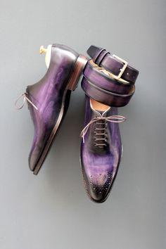 purple mens shoes - septieme largeur #menstyle #dandy