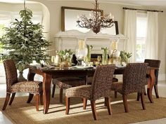 Dining Room Country Style Decorating Ideas