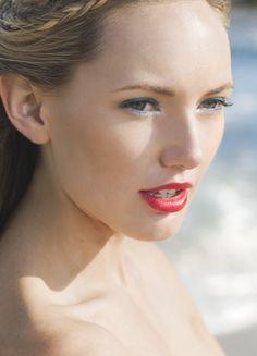 Beach Hair And Luminous Makeup