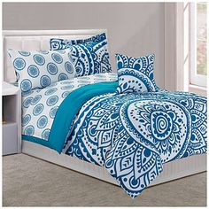 Dan River 174 King Turquoise Tile 8 Piece Bed In A Bag