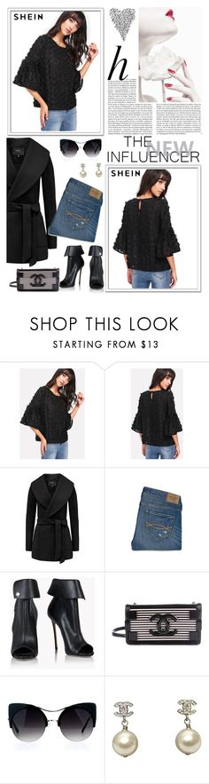 """""""Allover Flower Applique Semi Sheer Top"""" by manuel-s ❤ liked on Polyvore featuring Whiteley, Abercrombie & Fitch, Dsquared2 and Chanel"""