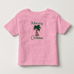Merry Christmas Tropical Palm Tree Toddler T-shirt