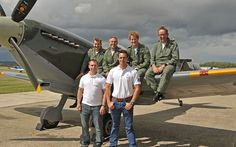 File photo: Prince Harry with the flight scholars and training team at Boultbee Flight Academy. From left: Chris Hadlow, Steve Boultbee Brooks, Prince Harry, Phill O'Dell. Front row: Corporal Alan Robinson (L) and Nathan Forster