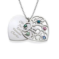 Chic Crystal Tree Anhänger Halskette für Frauen Party Geschenk Schmuck