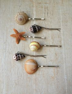 Shell Hair Pins Ocean Hair Style Beach by BeachDaisyJewelry