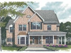 Country House Plan with 2810 Square Feet and 3 Bedrooms from Dream Home Source | House Plan Code DHSW65593