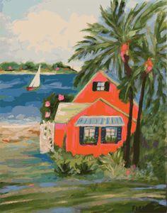 Hibiscus Beach House   by karenfieldsgallery,