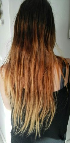 Start of  my ombre styled hair.