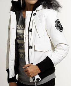 SUPERDRY Women's - EVEREST BOMBER - Hooded Jacket - NEW - Glacier White #Superdry #Bomber